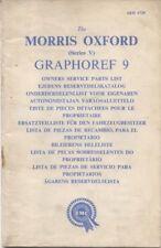 Morris Oxford Series V original Owners illustrated Parts List AKD 1729 1961
