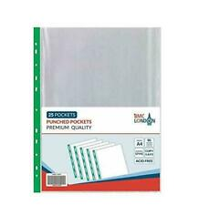 BMC LONDON Punched Pocket A4 (Pack of 25) (BMC33039)