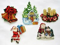 3D Easy Die Cut Card Toppers Christmas Candle Santa Snowman Scene Bells Type 19