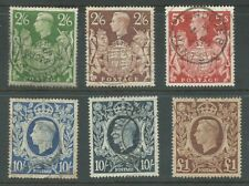 GB KGVI 1939 high values full set collection SG476-478c fine used (5448)