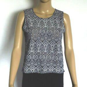 Women's Avocado semi Sheer Top ~ Size 8 ~ Mandala Print Shirt ~ MBC
