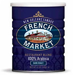 French Market Restaurant Blend Dark Roast Coffee, 12oz (3 Pack)