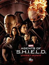 Marvel Agents of Shield Season 4 TV Poster (24x36) - Ghost Rider, Clark Gregg