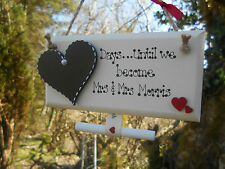 💖Personalised Gay / Lesbian Wedding Countdown sign/plaque Mrs & Mrs, Mr & Mr💖