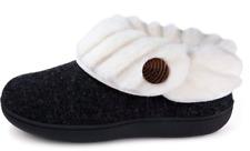 Wishcotton Women's Cute Comfy Fuzzy Felt Memory Foam Slippers Indoor Outdoor Non