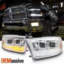 [Upgrade] Fit Dodge Ram 09-18 LED/DRL Switchback Bar Projector Headlights Lamps