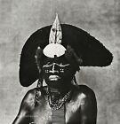 1970/84 IRVING PENN New Guinea Black Man Enga Warrior Body Paint Photo Art 12x16