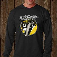Bob Seger and The Silver Bullet Band Legend Long Sleeve Black T-Shirt Size S-3XL