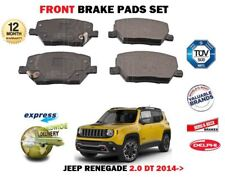FOR JEEP RENEGADE 2.0 DT CRD MULTIJET 2014-> NEW FRONT BRAKE PADS SET