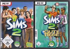 Die Sims 2 Hauptspiel Basisspiel + ADDON Gute Reise Urlaub Sammlung PC Spiele