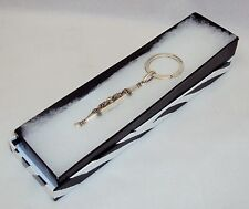 Key Ring ~ GUESS Cylinder Pendant w/Raised Relief Graphics NEW #5230240