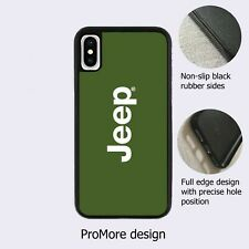 Jeep Logo American Car Green Case Cover for iPhone Samsung Huawei Google*