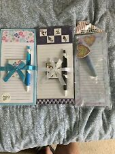 NEW Set of 3-Magnetic Note Pads With Pen And Magnet NEW