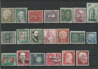 Wertvolles Lot Deutsche Bundespost ab 1951 gestempelt 20 Werte