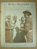 WAR ILLUSTRATED MAG No 155 MAY 28th 1943 ARABS WELCOME A BRITISH SERGEANT