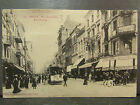 cpa 54 nancy rue saint dizier point central tramway tram animee
