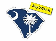 South Carolina State SC Decal / Sticker Palm Tree & Moon Free Shipping FLG99