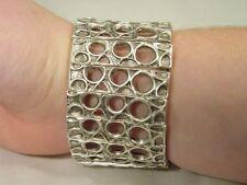 BUTW Cast pewter stretchable bracelt 3136E ab