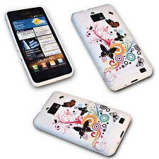 DESIGN BUTTERFLY No.4 SILIKON TPU COVER CASE + Displayschutzfolie SAMSUNG I9100