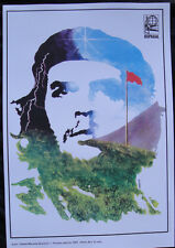 OSPAAAL POLITICAL Poster Che Guevara RED FLAG CUBAN WAR HERO REVOLUTION