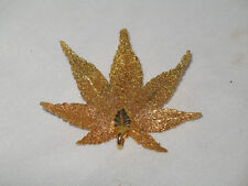 Gold Colored Leaf Maple Pin and Pendent Fall Fashion Pin Thanksgiving Pin