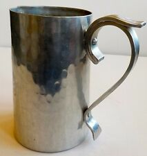 BUENILUM FORGED SILVER ALUMINUM HAMMERED TALL BEER MUG WITH DECORATIVE HANDLE