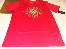 UEFA 2012 Euro Cup Top Core Tee T Shirt L Team Portugal Red Soccer Cotton