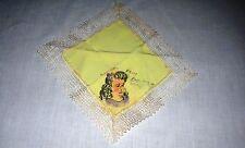 Belgium Liberation Souviner Handkerchief// Hankie hand painted