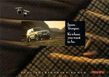 Isuzu Trooper Accessories 1992-95 UK Market Sales Brochure