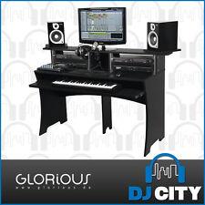 Workbench Recording Studio Furniture Desk with Rack Unit Space in Black DJ Ci...