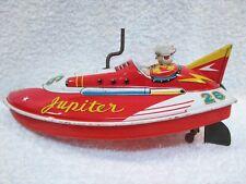 Vintage Jupiter Tinplate Wind Up Friction Drive Boat.