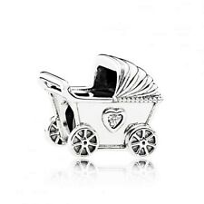 Genuine Pandora Silver Baby Pram Charm 792102CZ