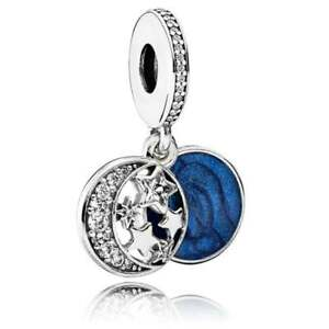 Genuine Pandora Vintage Night Sky Love you to the Moon & Back Charm 791993CZ