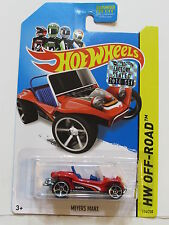 Hot Wheels 2014 Hw Hors Route Meyers Manx Rouge Emballage D'Origine