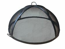 """37"""" Welded HYBRID Steel Lift Off Dome Fire Pit Safety Screen"""