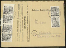 Saarland Mi 226 Z II MeF Zeitungs-Drucksache Adressteil