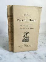 Oeuvres de Victor Hugo Les voix intérieures Alphonse Lemerre 1939