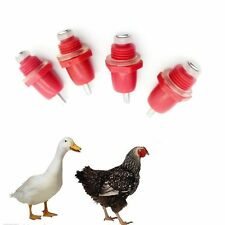 5 PCS Red Poultry Drinker Spring Type Chicken Water Nipple Automatic Dispenser