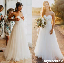 White Tulle Sweetheart A Line Wedding Dress Bridal Gown Custom Made 2  4 6 8 10+