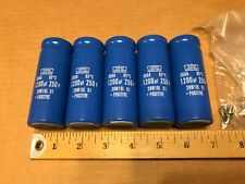 (5) 1200 uF 250V DC Capacitor  Nippon Chemicon 28W10L01 New Old Stock