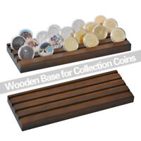 """WR Solid Wood Challenge Coin Display Rack Medals Holder Stand 4 Row 12.9"""" X4.49"""""""