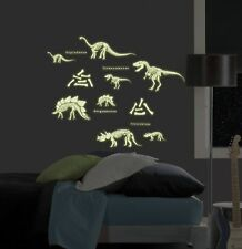 Dinosaurs 24 BiG Wall Stickers Glow in the Dark Skeletons Room Decor Decals Br2