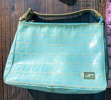 Fendi FF Zucca Logo Zip Mini Pouch Clutch Bag