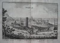 Mühldorf am Inn Bayern  Merian Kupferstich der Erstausgabe 1644