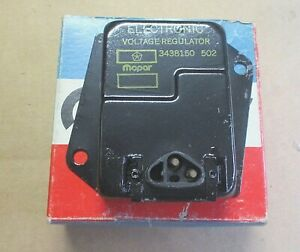 Mopar 1970 71 72 -1974 A,B,C,E body voltage regulator 3438150 NOS date code 502