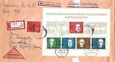 Briefmarken aus der BRD (1955-1959) mit Mischfrankatur