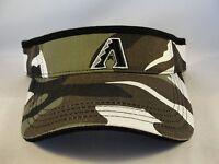 MLB Arizona Diamondbacks Vintage Camo Adjustable Strap Visor Hat Annco
