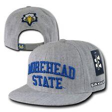 Gray Morehead State University MSU Eagles NCAA Flat Snapback Baseball Hat Cap