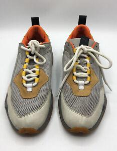 Puma Thunder Spectra Grey Orange Yellow Blue Mens Shoes Size 9 preowned