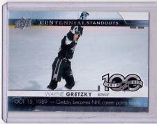 WAYNE GRETZKY 17/18 Upper Deck UD Centennial Standouts #1 LA Kings Hockey Card
